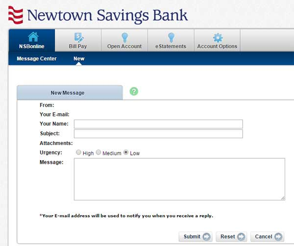 moving changing address for a newtown savings bank account