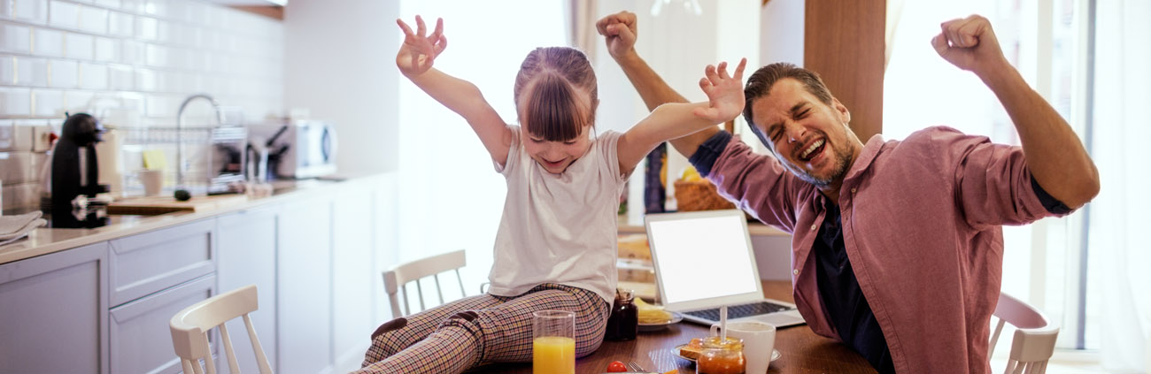 Dad and daughter excited about Great Start Savings account
